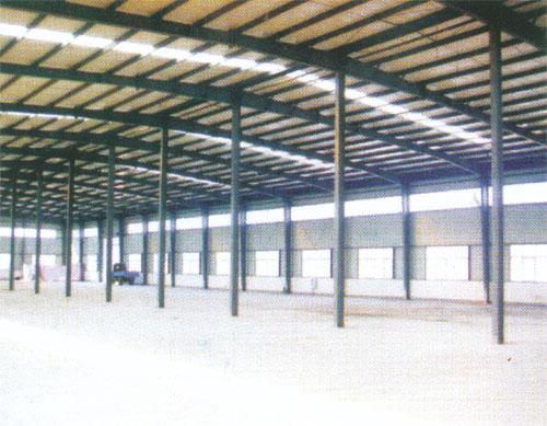重庆钢结构大型厂房内部展示